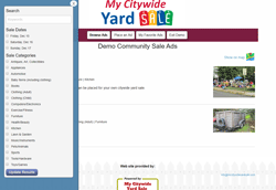 Custom Software for managing a citywide yard sale